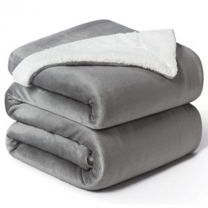 Bedsure Sherpa Grey Fleece
